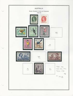 Australia Collection 1963-65 on Album Page, #365//378 Mint NH
