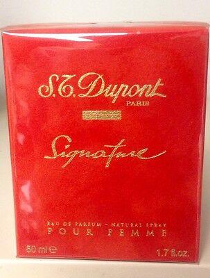 ST DUPONT SIGNATURE POUR FEMME 1.7 OZ / 50 ML EAU DE PARFUM SPRAY NEW IN BOX