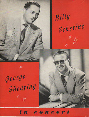 Billy Eckstine & George Shearing Concert Souvenir Program 1951 Tour