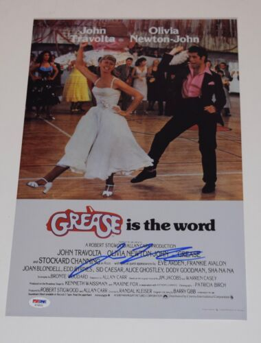 John Travolta Signed Autographed GREASE 11X17 Movie Poster Photo PSA/DNA COA