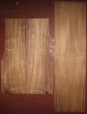 Hawaiian curly koa OM guitar back-side wood set, luthier tonewood