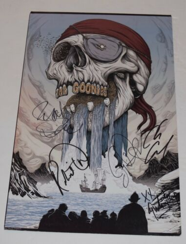 The Goonies Cast Signed Autographed 11x17 Photo Poster by 5 Richard Donner COA