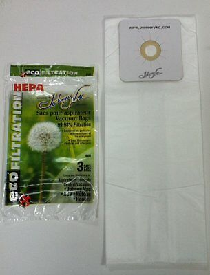 Johnny Vac 440H HEPA central vacuum bags  - Replaces Nutone