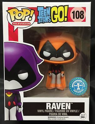 FUNKO DC COMICS TEEN TITANS GO RAVEN ORANGE COSTUME EXCLUSIVE POP FIGURE - Raven Dc Comics Costume