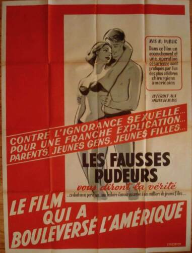 MOM AND DAD French Grande movie poster 47x63 JUNE CARLSON EXPLOITATION 1945