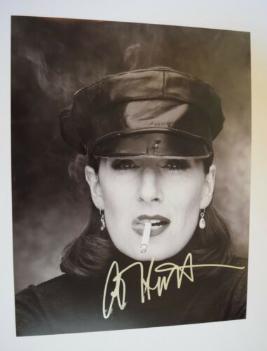 Anjelica Huston Signed Autographed 11x14 Photo The Addams Family COA VD