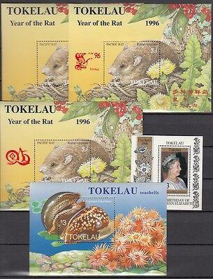 TOKELAU-INSELN, 1996 Block 7, 7I, 7II, 8, 9 **, (22318)
