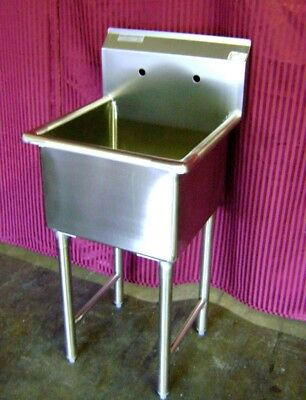 New 15x15 Sink 1 Compartment Mop Stainless Steel Nsf 5431 Commercial Restaurant