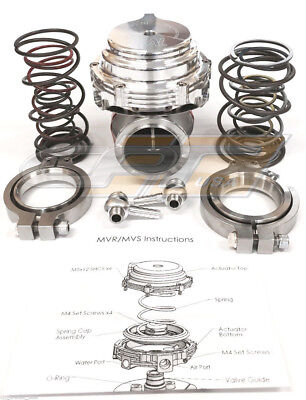 Tial MVR 44mm Wastegate With V Band Flanges All Springs Pressure Included Silver