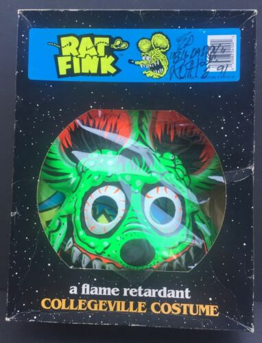 """RAT FINK Halloween Costume in box autographed by Ed """"Big Daddy"""" Roth!"""