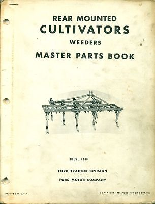 Ford Master Parts Book Rear Mounted Cultivators Pa 5376 D Af-7
