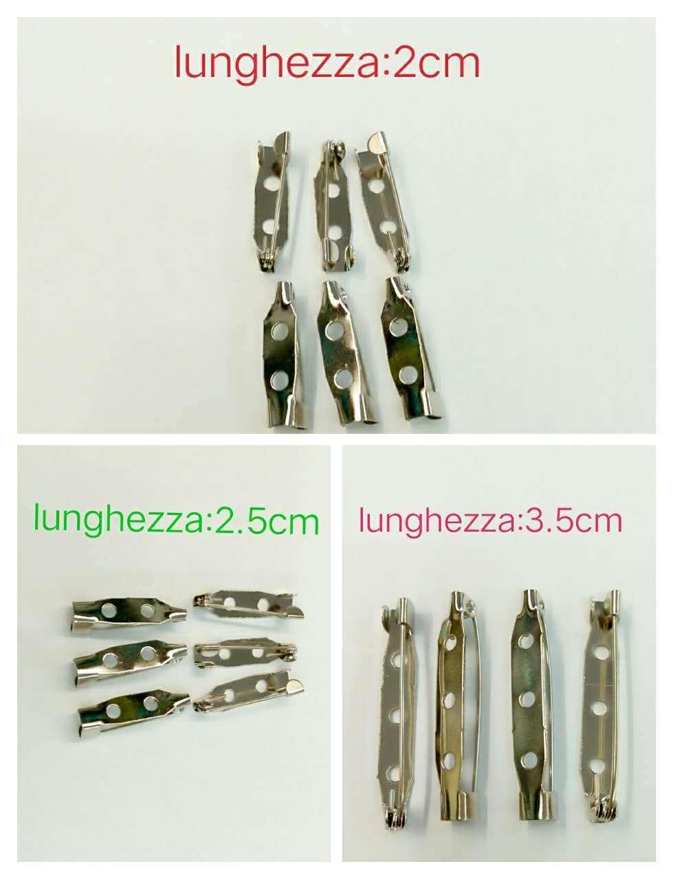 150 pz BASI PER SPILLE LUNGHE VARIE MISURE accessori  BIGIOTTERIA