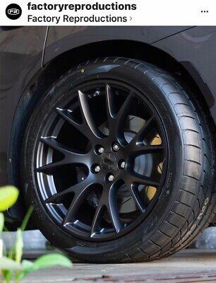 "Fits 20"" 9.5 10.5 Hellcat Satin Black AZ850 Tires Wheels Rims For Chrysler 300"