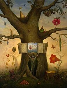 VLADIMIR KUSH: GENEALOGY TREE -  SIGNED AND UNFRAMED