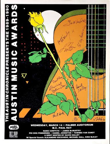SXSW Austin Music Awards 1990 by JUKE - ASLEEP AT WHEEL RARE silkscreen ORIGINAL