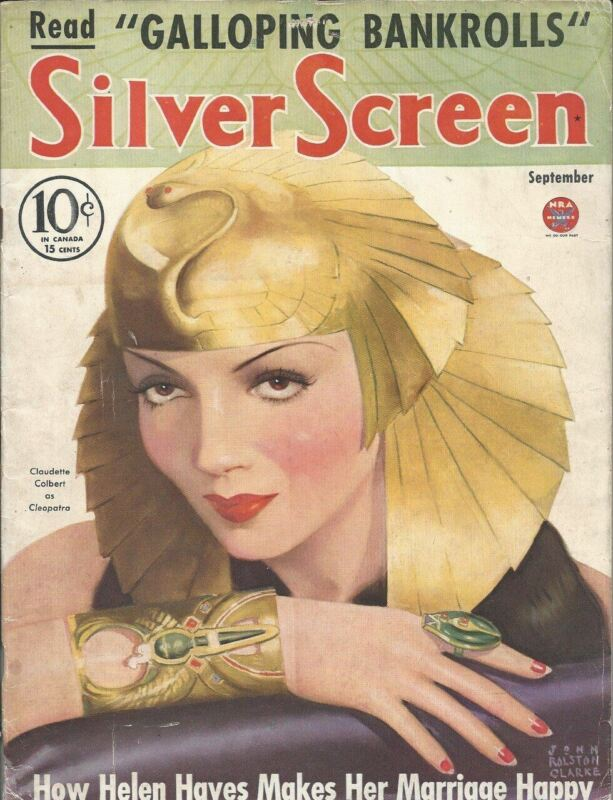 Silver Screen - Claudette Colbert - September 1934