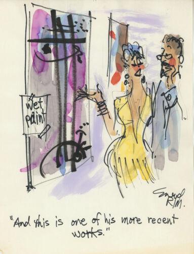 Doug Sneyd Signed Original Art Playboy Gag Rough Sketch ~ Art Show / Wet Paint