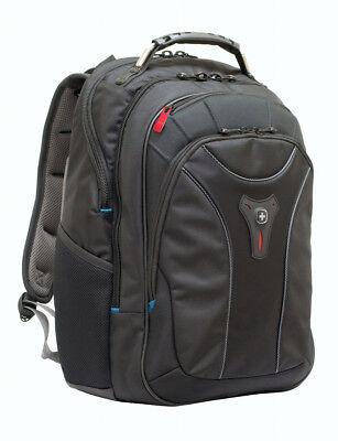 Laptop Notebook Rucksack (Wenger Carbon Notebook Rucksack bis 43,9cm 17,3 Zoll Laptop Tasche, Schwarz)