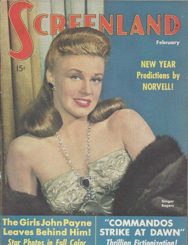 Ginger Rogers - Screenland - February 1943
