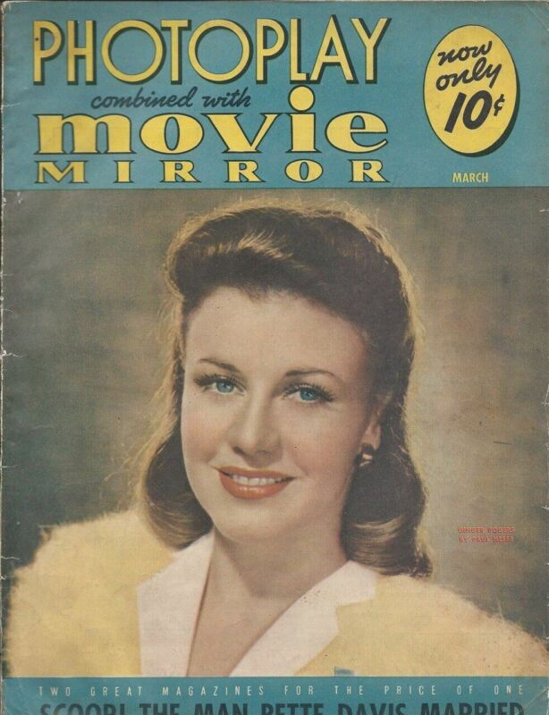 Ginger Rogers - Photoplay - March 1941