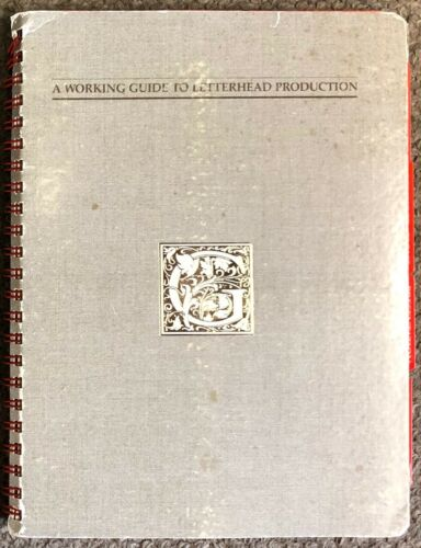 Vintage 1985 A Working Guide To Letterhead Production