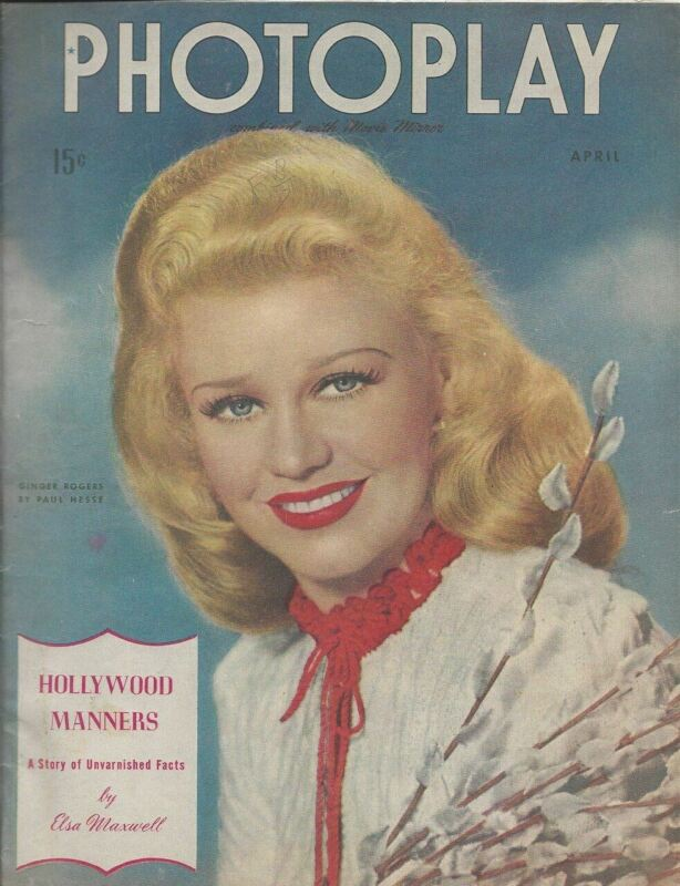 Ginger Rogers - Photoplay - April 1944