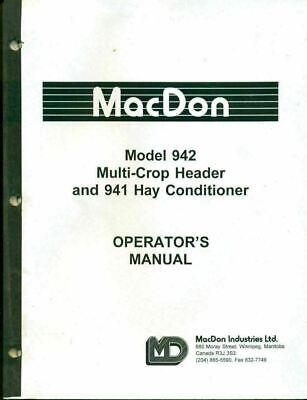 Macdon Operators Manual 942 Multicrop Header 941 Hay Conditioner 46217 Ag-32