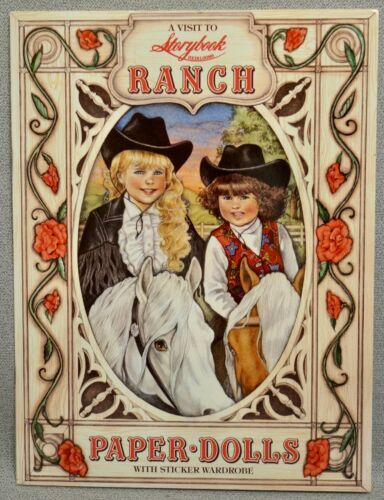 A VISIT to STORYBOOK RANCH Paper Doll Book - UNCUT MINT ORIGINAL