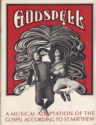"Stephen Schwartz   ""Godspell""   Souvenir  Program   1971    OFF-BROADWAY"