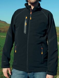 REGATTA-MENS-HEADWIND-X-PRO-SOFTSHELL-JACKET-BLACK-OUTDOOR-WORKWEAR-TRA658