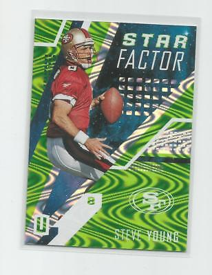 2017 Unparalleled  STEVE YOUNG   Lime Green  Star Factor   197/199