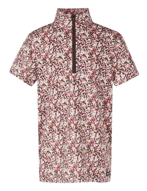 Kerrits Kids Cool Ride Ice Fil Short Sleeve Shirt Print - Rose Field
