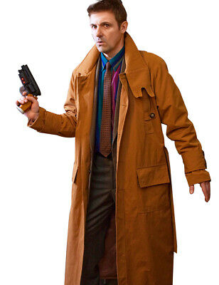 Blade Runner Rick Deckard Harrison Ford Cotton Trench Coat Costume](Trenchcoat Costume)