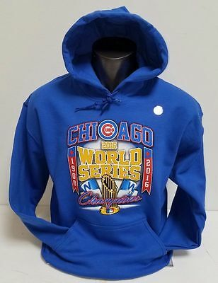 Chicago Cubs 2016 World Series Champions Blue Hoodie  1908 2016   Design Mlb