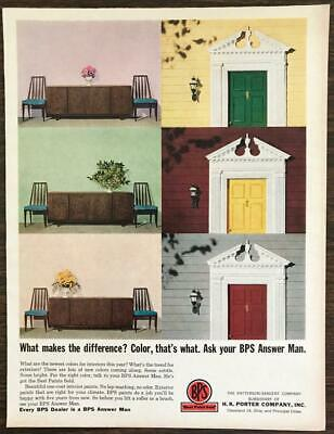 1962 BPS Best Paint Sold Print Ad Color Makes the Difference Ask Your BPS (The Best Gloss Paint)