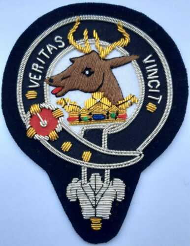 Royal Scottish Scotland Clan Kieth Keith Stag Crest Heraldry Family Name Patch X