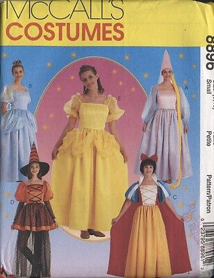 Halloween costume pattern princess witch Rupunzel Cinderella Belle Snow White(24