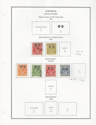 Australia Collection 1931-33 on Album Pages, Officials O3-O4, O6-O9