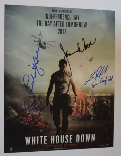 WHITE HOUSE DOWN Cast Signed Autograph 11x14 Photo Maggie Gyllenhaal +5 COA VD