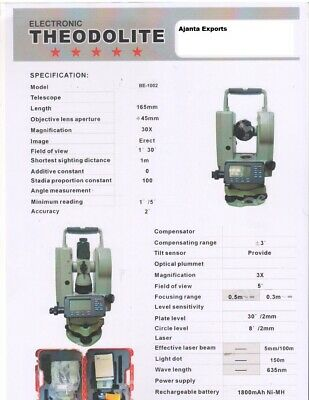 Digital Theodolite Clear Display Perfectly Designed High Strength Angle Measurem