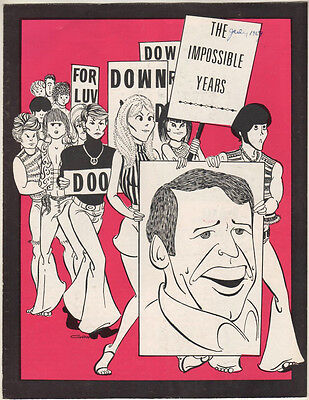 "Paul Lynde Kenley Players Souvenir Program 1969 ""The Impossible Years"""