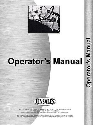 Massey Ferguson 1010 Tractor Operators Manual Mh-o-mf1010