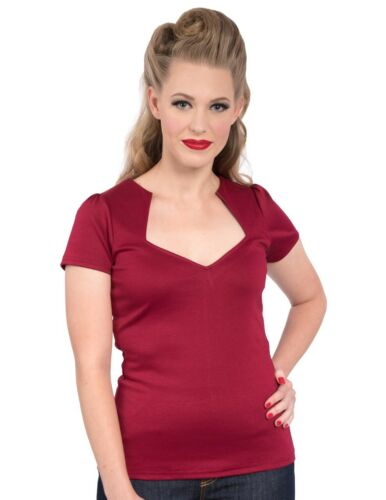 Steady Clothing Womens Sophia Top In Wine Made In USA
