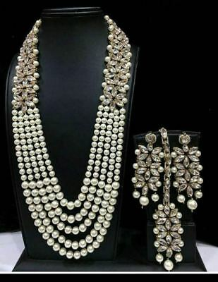 Indian Bollywood Necklace Earrings New Gold Bridal Wedding Costume Jewellery Set