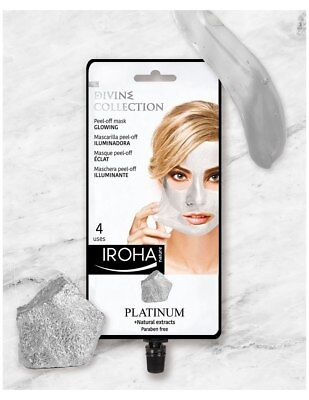 Iroha Nature Glowing Peel-Off Mask With Platinum & Plant Extracts - 4 Use Sachet