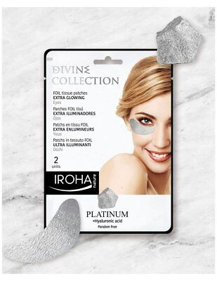Iroha Nature Extra Glow Under Eye Patches With Platinum & Hyaluronic Acid
