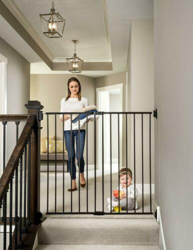 Regalo 2-in-1 Extra Tall Easy Swing Stairway And Hallway Baby Gate, Black