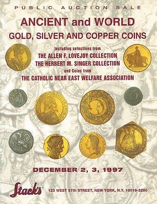 STACK'S PUBLIC AUCTION SALE ANCIENT AND WORLD GOLD, SILVER AND COPPER COINS 1997