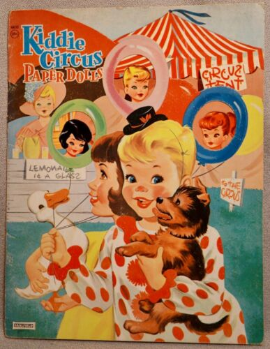 KIDDIE CIRCUS Paper Doll Book - SAALFIELD #4430 - RARE UNCUT ORIGINAL