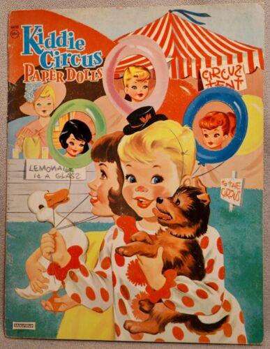 KIDDIE CIRCUS Paper Doll Book - SAALFIELD #4430 - RARE UNCUT ORIGINAL